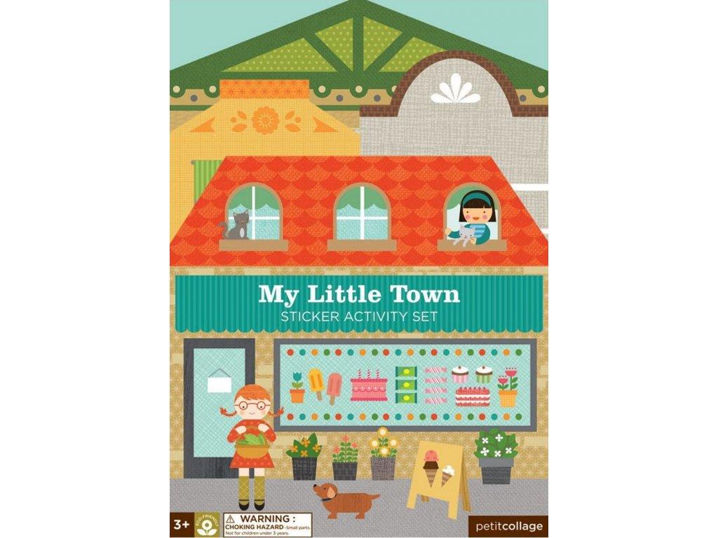 Petitcollage | Kreativní samolepky s deskami Moje malé město