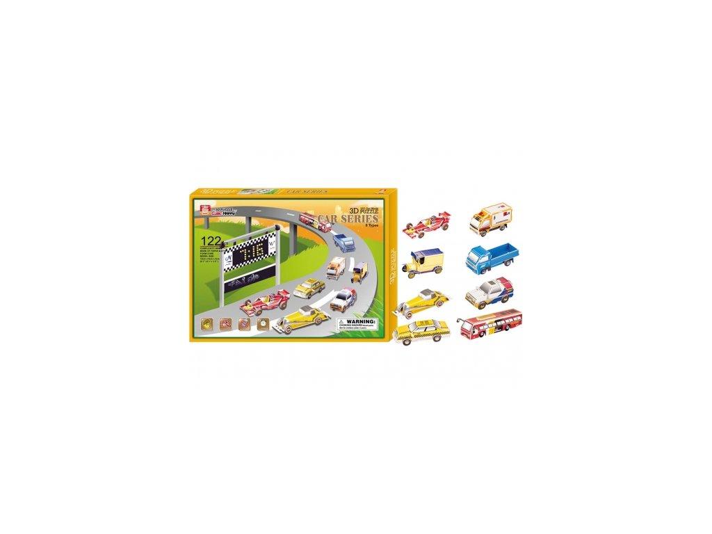 Legler | 3D pěnové puzzle Auta, sada 8 ks