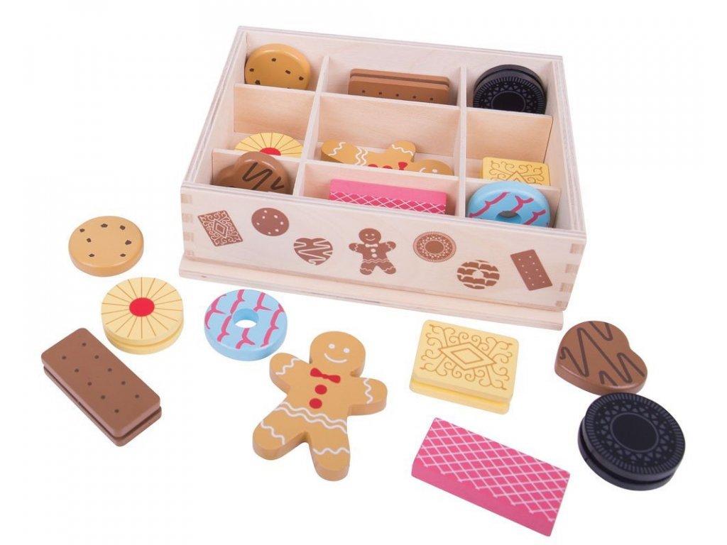 Bigjigs Toys | Dřevěné potraviny Box se sušenkami