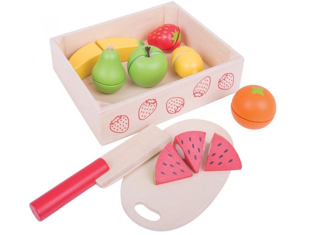 Bigjigs Toys | Dřevěné potraviny Krájení ovoce v krabičce