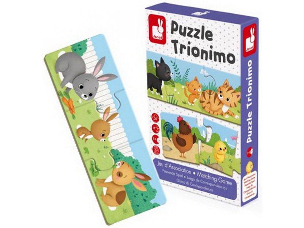 Janod | Puzzle Trionimo RODINKY