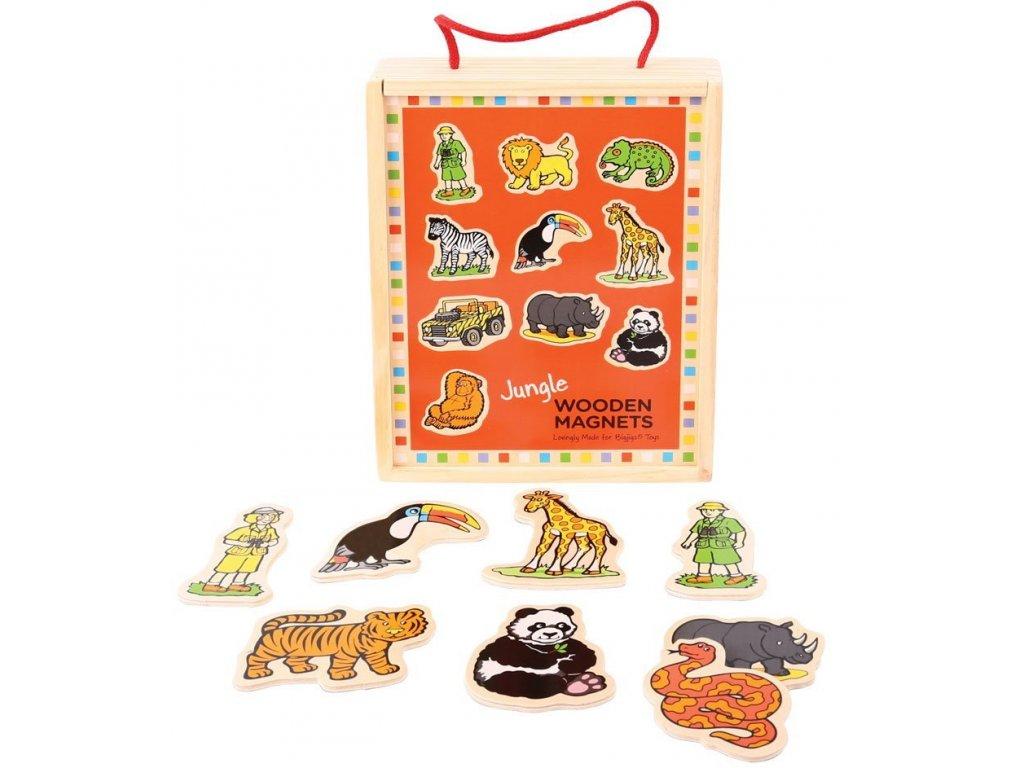 Bigjigs Toys | Dřevěné magnetky Džungle 20 ks