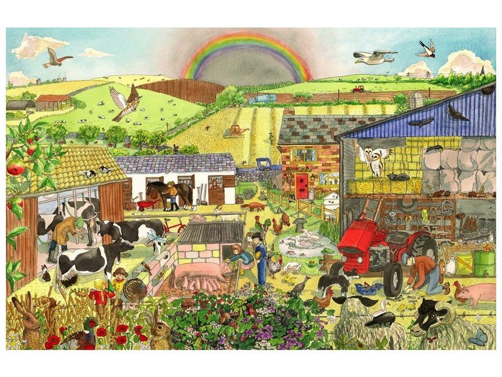 Bigjigs Toys | Dřevěné puzzle Farma 48 dílků