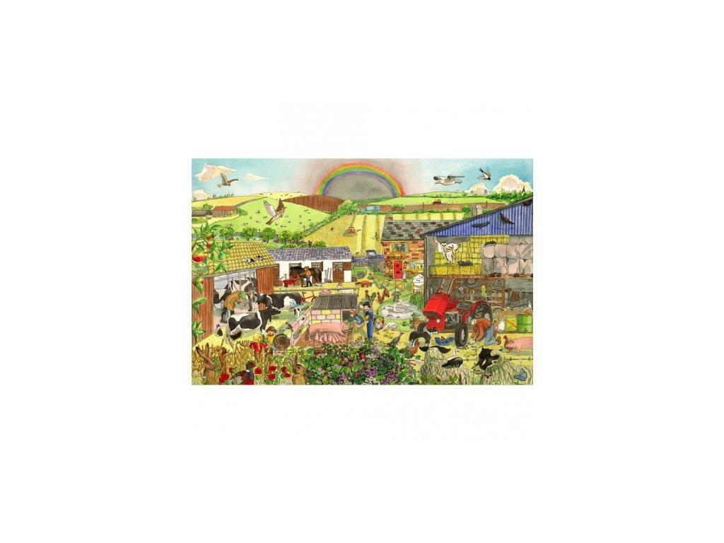 Bigjigs Toys | Dřevěné puzzle Farma 96 dílků