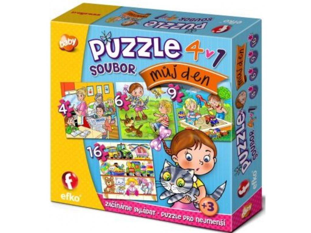 Efko | Puzzle 4v1 Můj den