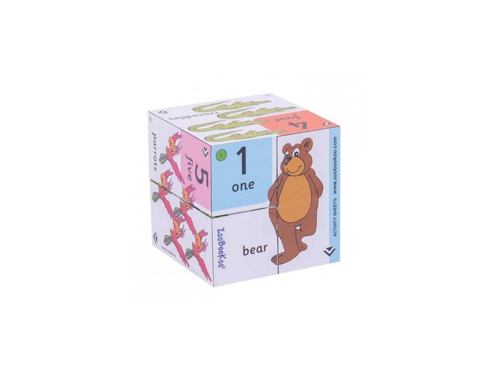 Bigjigs Toys | Zoobookoo Didaktická kostka Přiřaď čísla k obrázku