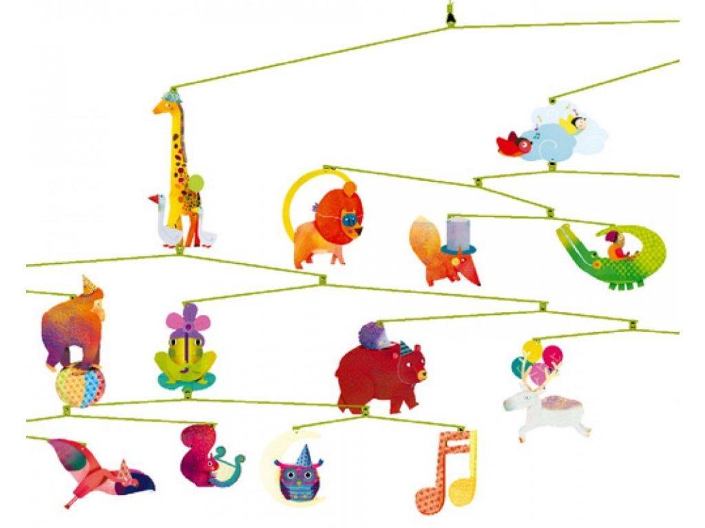 Djeco | Závěs Karneval zvířátek