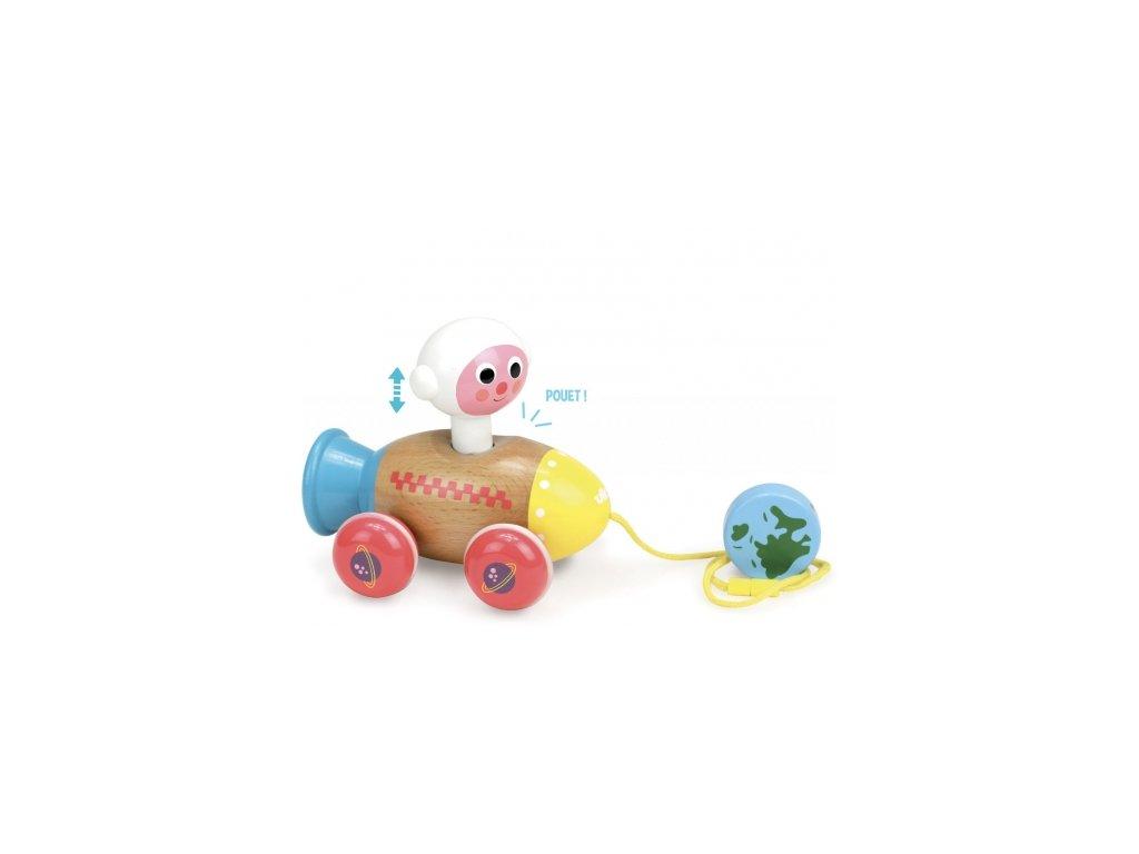 Vilac | Dřevěná tahací hračka Kosmonaut
