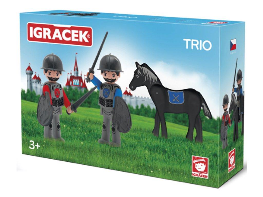 Efko | IGRÁČEK TRIO Dva rytíři a černý kůň