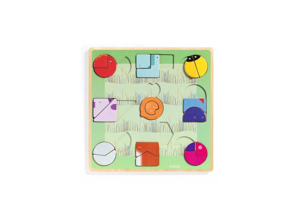 Djeco | Vkládací puzzle tvary Ludiform