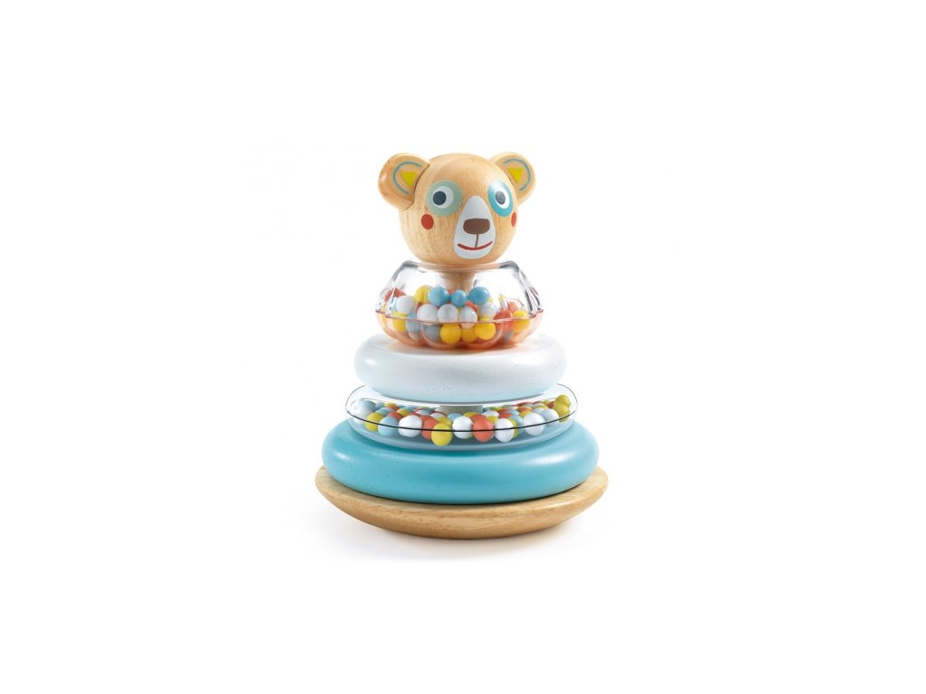 Djeco | Chrastítko nasazovací Medvídek Něžný