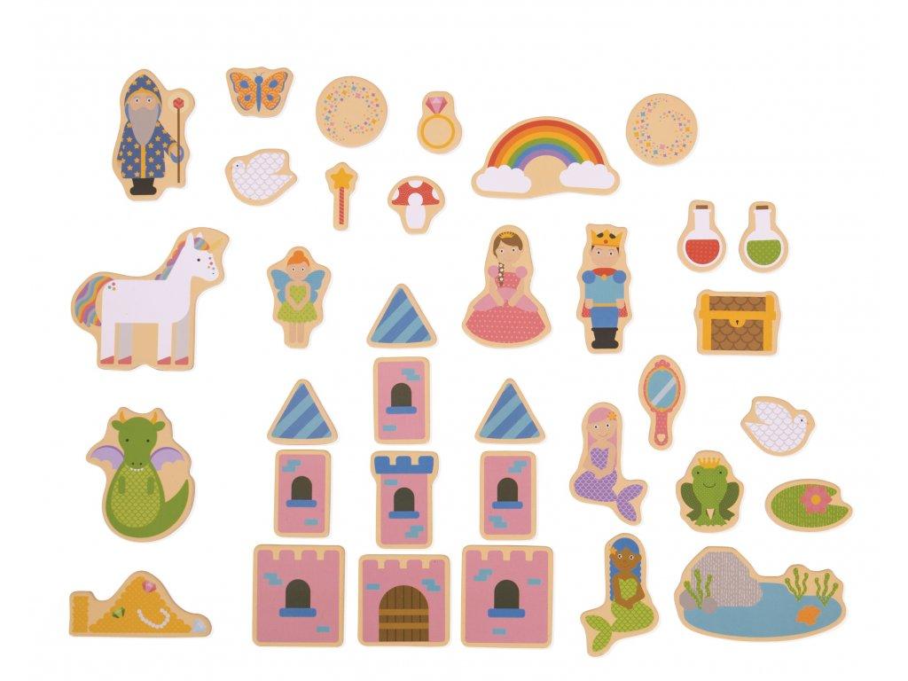 Bigjigs Toys | Dřevěné magnetky Pohádkové 35 ks