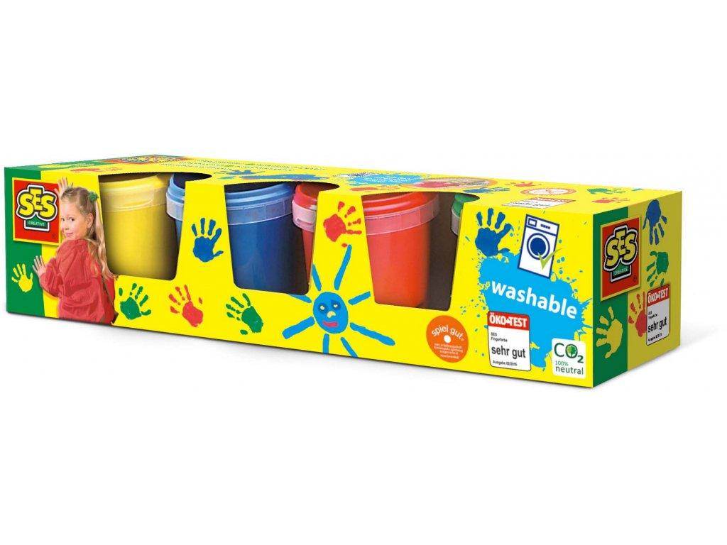 SES | Prstové barvy 4x150ml