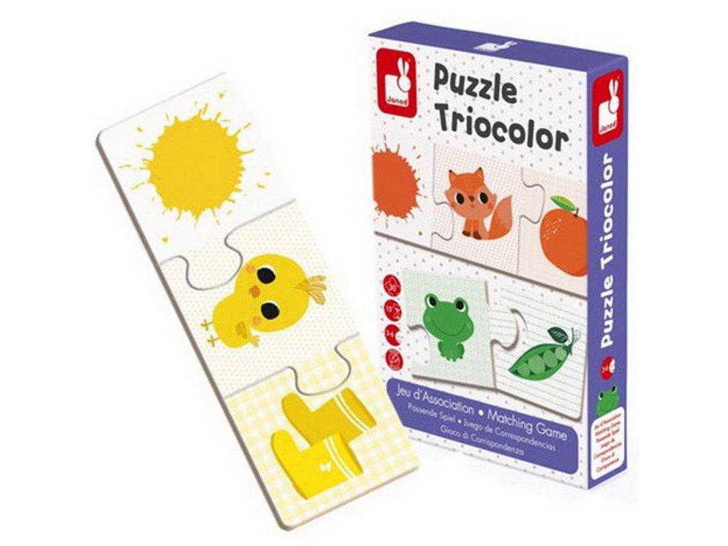 Janod   Puzzle Triocolor BARVY