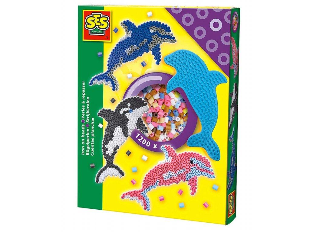 SES | Zažehlovací korálky - delfín 1200 ks
