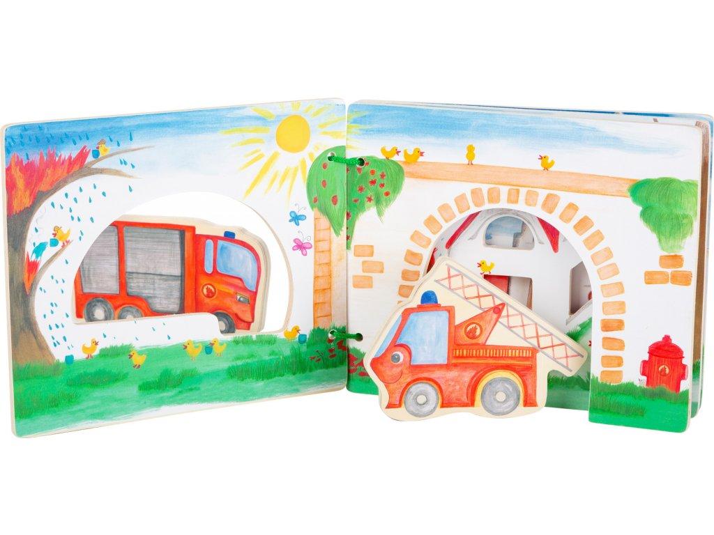 Legler   Dřevěné leporelo s auty Hasiči