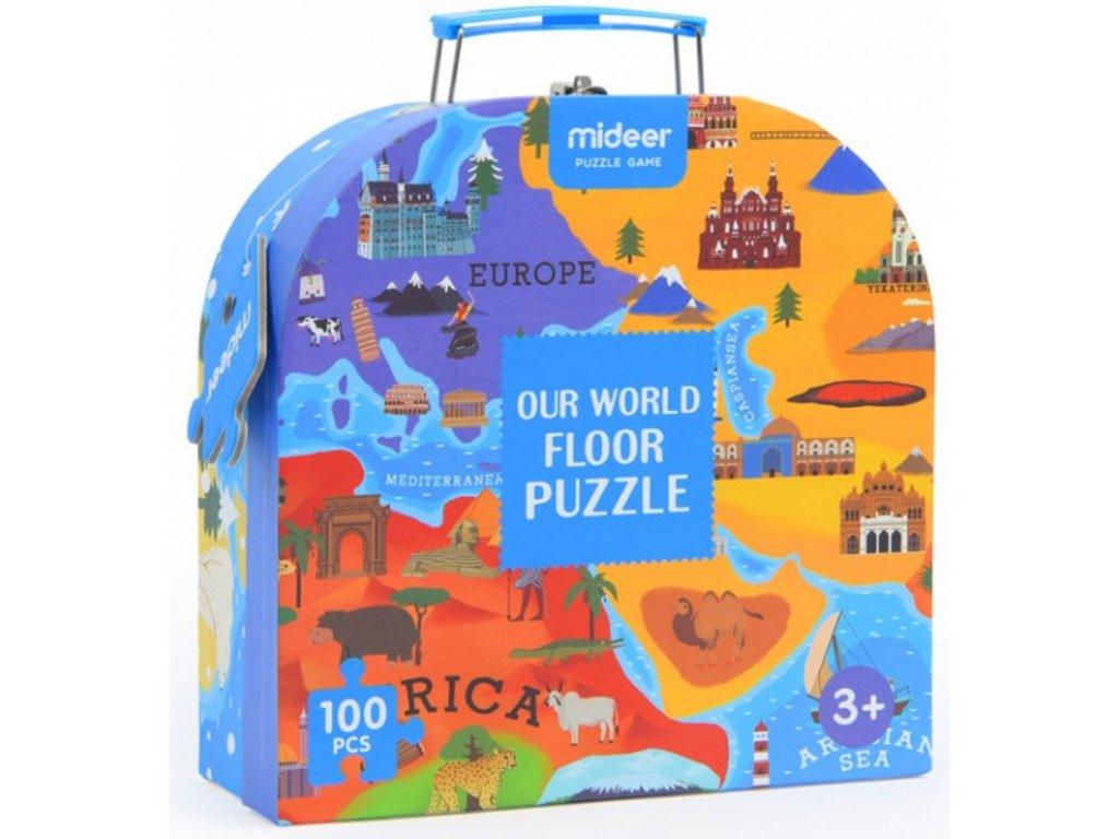 MD3027 puzzle v kufriku mapa sveta