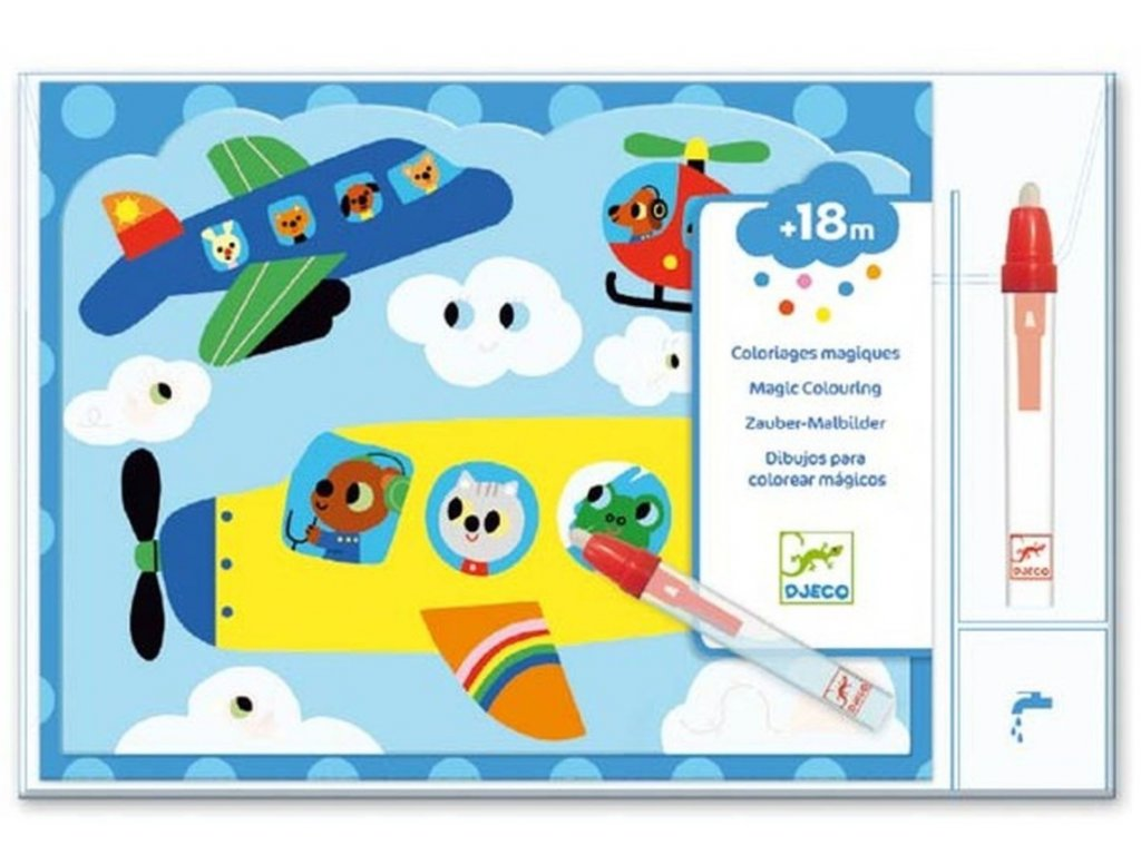 DJ09061 djeco malovani vodou vzdusna doprava