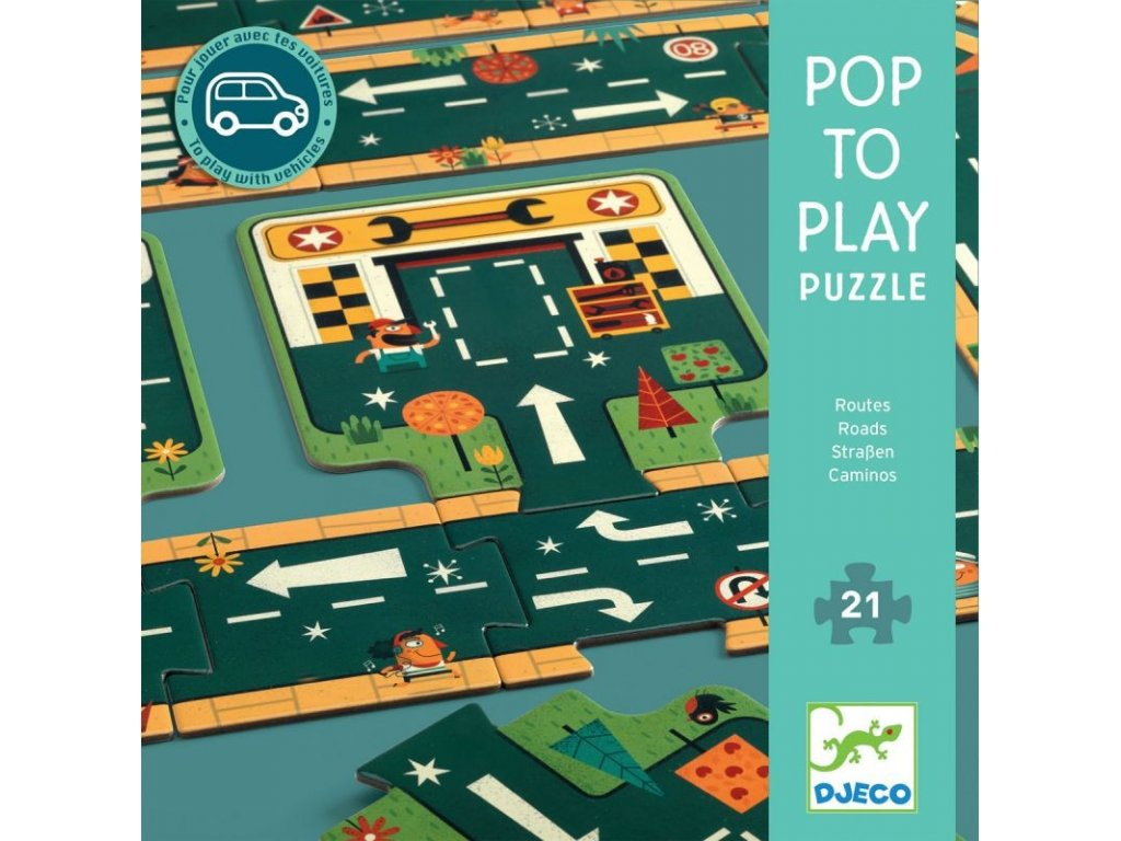 DJ07162 djeco podlahove puzzle silnice