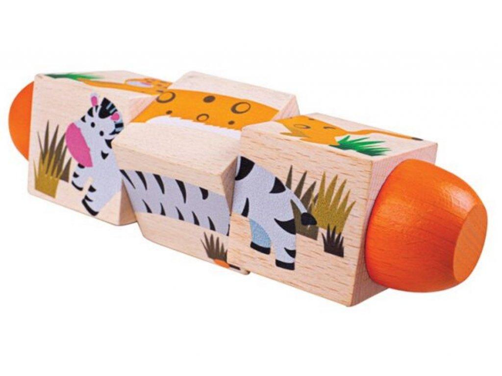 BJ077 bigjigs toys motoricky valec zivot v dzungli