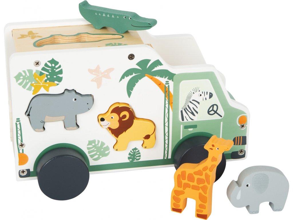 11700 drevene auto se zviratky safari