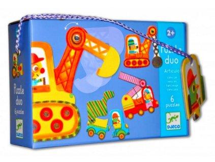 Djeco | Puzzle duo Pracovní stroje