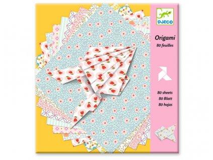 Djeco | Origami Ozdobné papíry dívčí