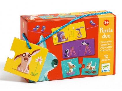 DJ08162 djeco puzzle duo protiklady