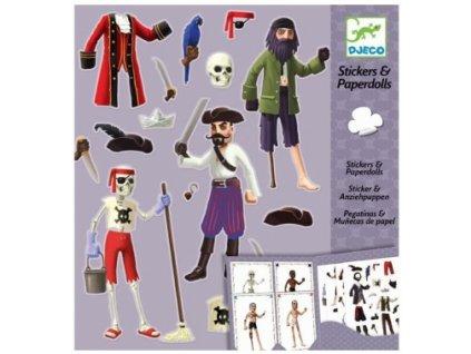 Djeco | Samolepkový set - Piráti