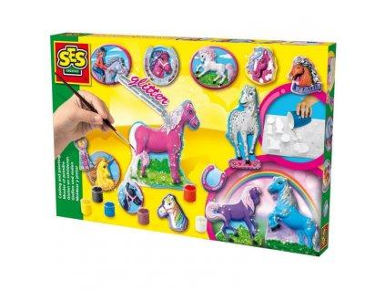 SES | Odlévání a malování Koně ze sádry