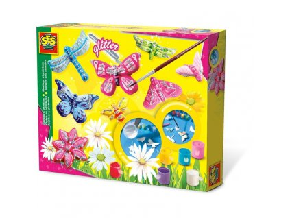 SES   Výroba broží - motýli