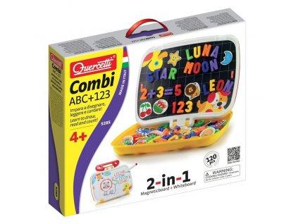 Quercetti | Tabule v kufříku Combi ABC + 123
