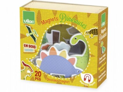 Vilac | Dřevěné magnetky Dinosauři 20ks