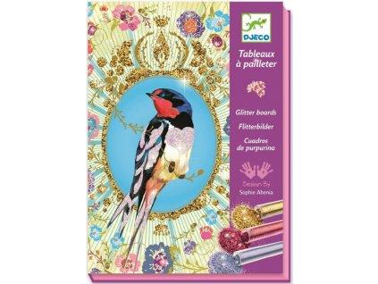 Djeco | Pískování Třpytiví ptáčci