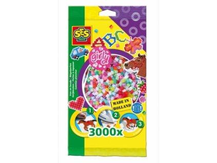 SES | Zažehlovací korálky Dívčí mix 3000 ks