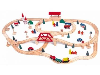 Woody | Vláčkodráha s mostem a nádražím, 90 dílů