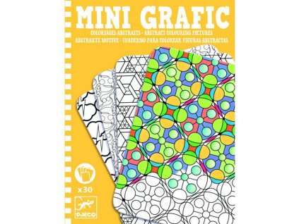 Djeco   Mini grafic - Abstract omalovánky