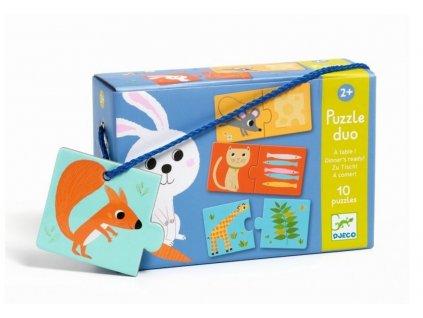 Djeco | Puzzle duo Co bude dnes k obědu?