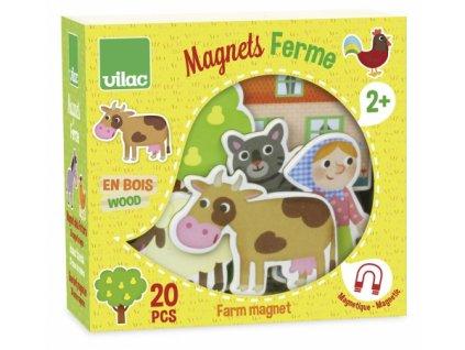 Vilac | Dřevěné magnetky Farma 20 ks