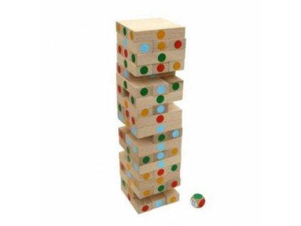 M.I.K. | Věž JENGA barevná s kostkou