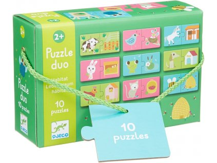 DJ08164 djeco puzzle duo pelíšky