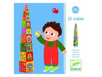 Djeco   Věž z kostek Dopravní prostředky