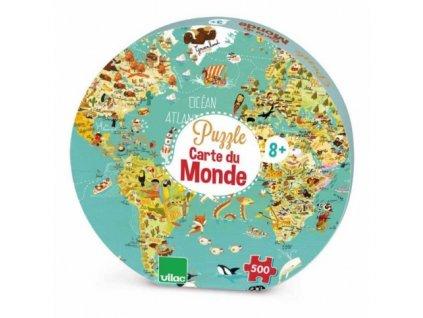 Vilac | Puzzle Mapa světa 500 dílků