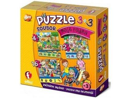 Efko | Puzzle 3v1 Moje rodina