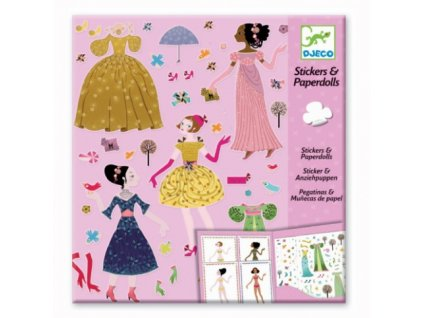 Djeco | Samolepkový set - Oblékání Elegance