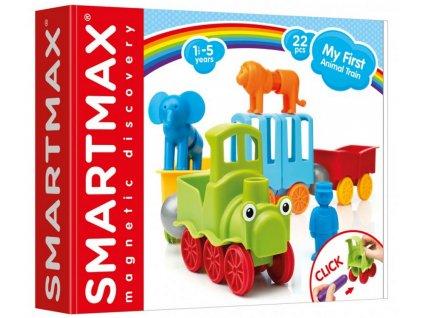 SmartMax | Magnetická stavebnice Můj první vláček se zvířátky (25 dílů)