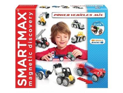 SmartMax   Magnetická stavebnice Mix vozidel (25 dílů)