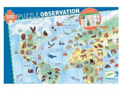 Djeco | Puzzle Světová zvířata 100 dílků