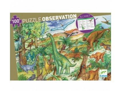 Djeco | Puzzle Dinosauři 100 dílků