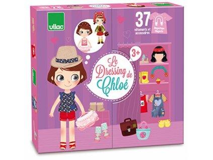 Vilac | Dřevěné magnetky Oblékání Chloe